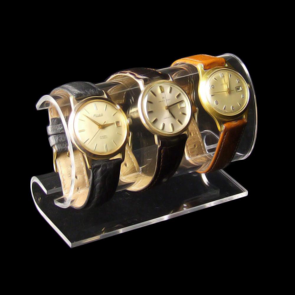 Verkaufsständer Acryl Uhrenständer Uhrenhalter Uhrendisplay Für 4 Uhren Aufsteller & Dekoration