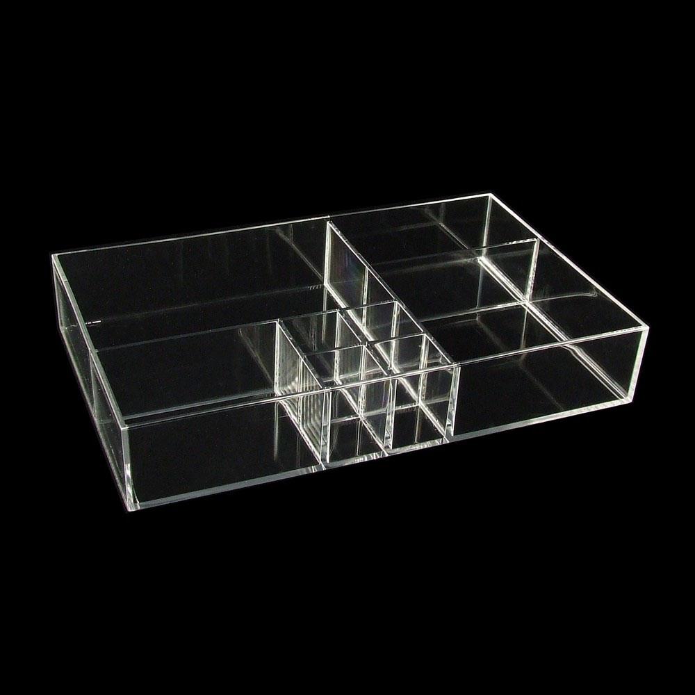 Kosmetik Organizer Acryl Box 8 Fächer ohne Deckel (15AC112) | eBay